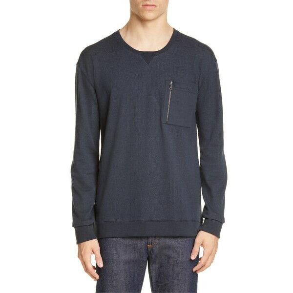 ジョンバルベイトス メンズ パーカー・スウェットシャツ アウター John Varvatos Zip Pocket Crewneck Sweatshirt Dark Navy