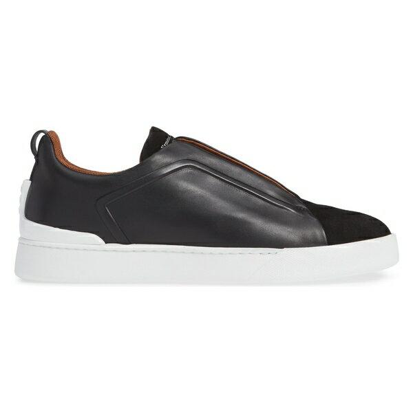 エルメネジルド・ゼニア メンズ スニーカー シューズ Ermenegildo Zegna Slip-On Sneaker (Men) Black