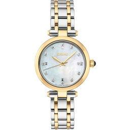 セイコー レディース 腕時計 アクセサリー Women's Diamond-Accent Two-Tone Stainless Steel Bracelet Watch 30mm No Color