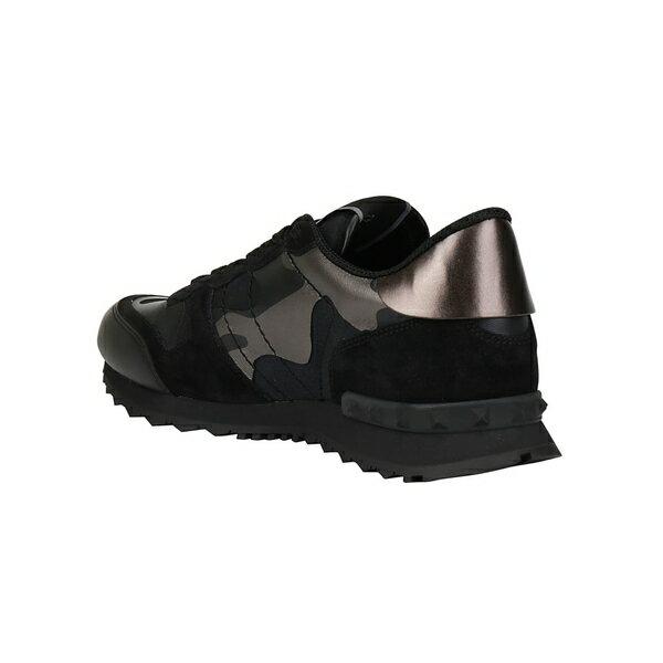 ヴァレンティノ ガラヴァーニ メンズ スニーカー シューズ Valentino Garavani Camouflage Sneakers Nerodarkrutenio
