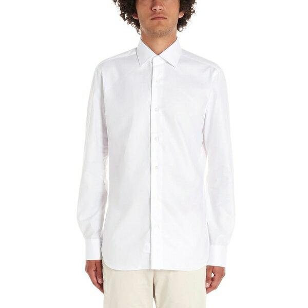 バルバナポリ メンズ シャツ トップス Barba Napoli Shirt White