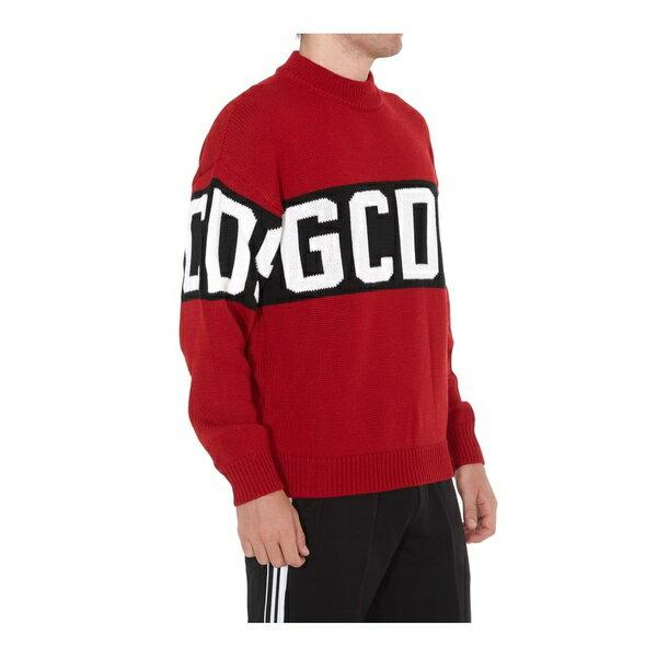 ジーシーディーエス メンズ ニット&セーター アウター Gcds Logo Embroidered Pullover Red