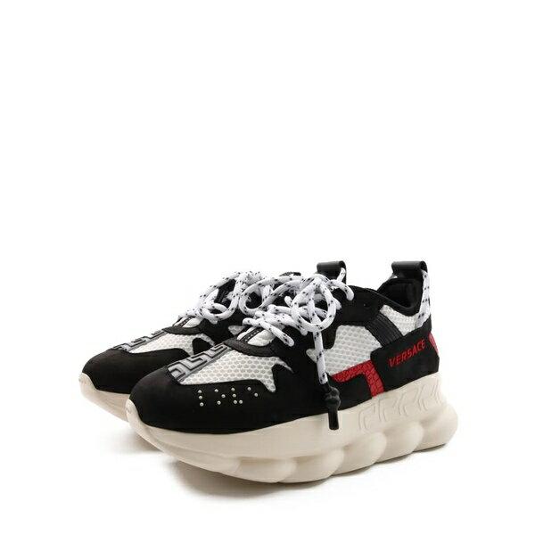 ヴェルサーチ メンズ スニーカー シューズ Versace Sneakers Chain Reaction 2 Black