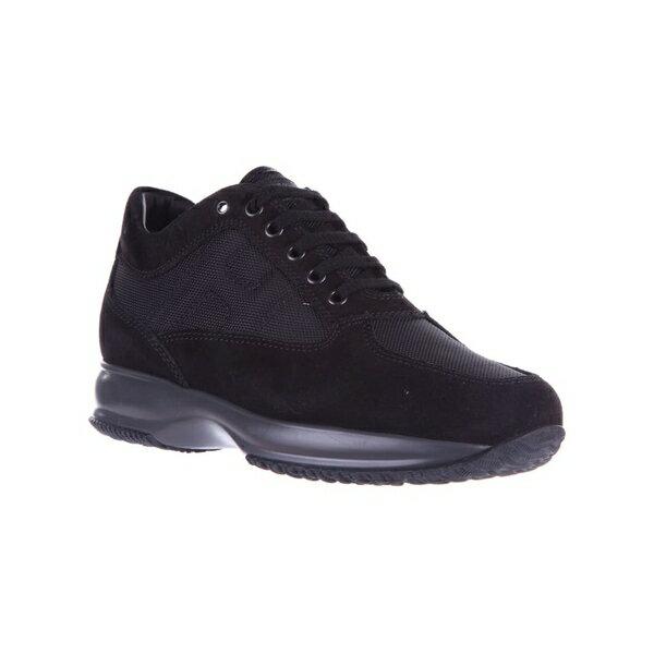 ホーガン メンズ スニーカー シューズ Hogan Shoes Suede Trainers Sneakers Interactive Allacciato Altraversione Nero