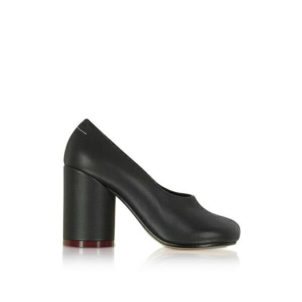 マルタンマルジェラ レディース ヒール シューズ Mm6 Maison Martin Margiela Black Leather Pumps Black