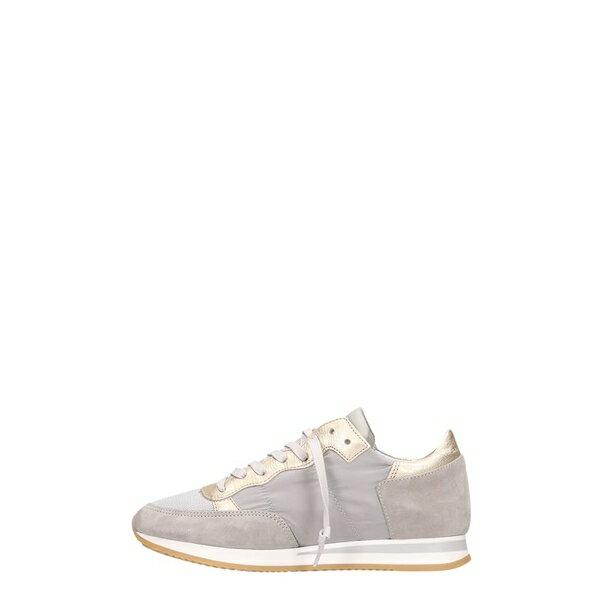 フィリップモデル レディース スニーカー シューズ Philippe Model Tropez Sneakers In Grey Suede And Fabric grey