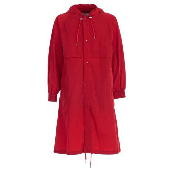 アミ アレクサンドル マテュッシ メンズ ジャケット&ブルゾン アウター Ami Alexandre Mattiussi Buttoned Parka Red