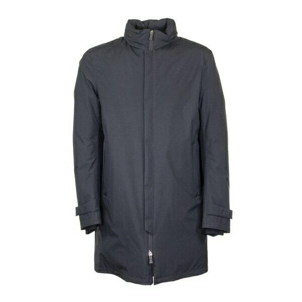 ヘルノ メンズ ジャケット&ブルゾン アウター Herno Waterproof Laminar Down Jacket With Concealed Hood Blue