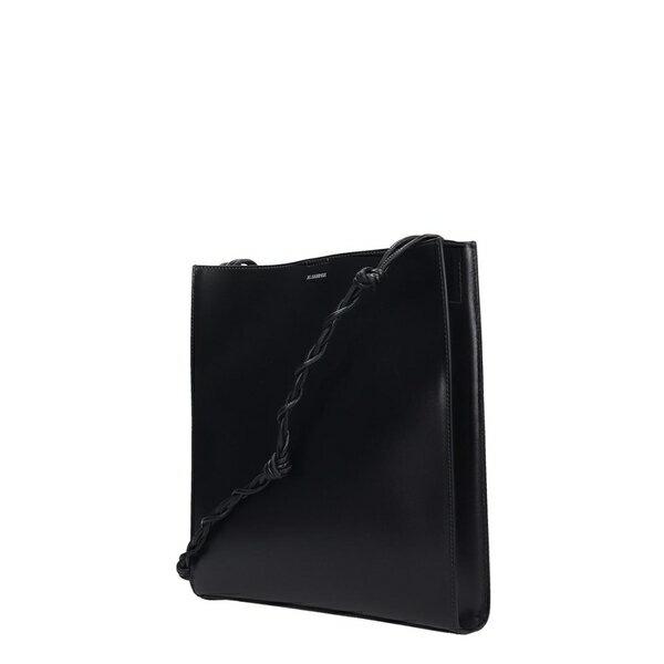 ジル・サンダー レディース ショルダーバッグ バッグ Jil Sander Tangle Shoulder Bag In Black Leather black