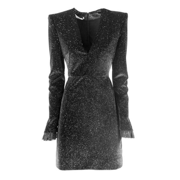 フィロソフィーデロレンゾセラフィーニ レディース ワンピース トップス Philosophy di Lorenzo Serafini Stretch Velvet Dress Nero