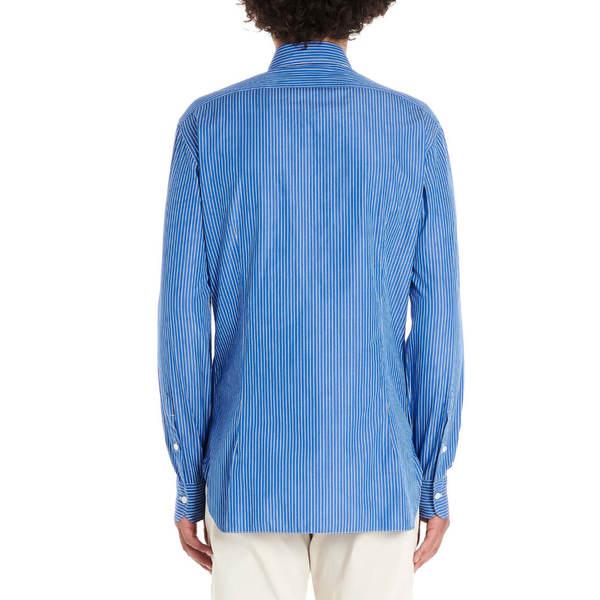 バルバナポリ メンズ シャツ トップス Barba Napoli Shirt Blue
