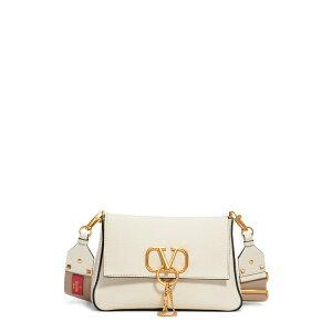 Valentino Garavani Ladies Shoulder Bag Bag Small V-Ring Leather Shoulder Bag Light Ivory/ Naturale