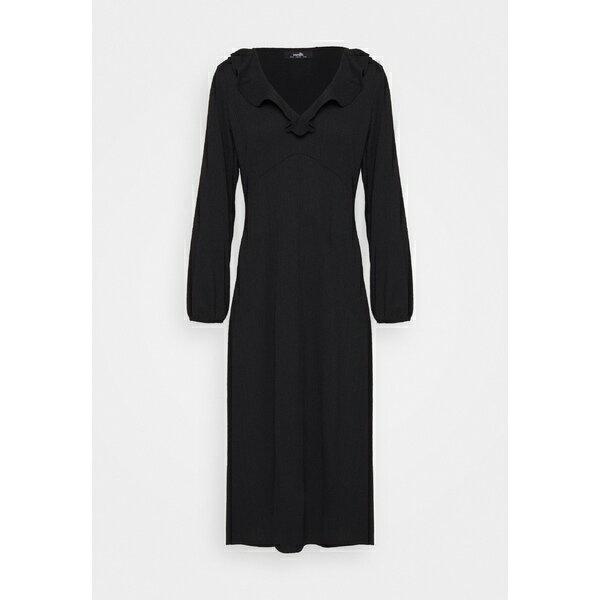 スーツ・セットアップ, ワンピーススーツ  SOFT FRILL MIDI DRESS - Day dress - black yqej004e