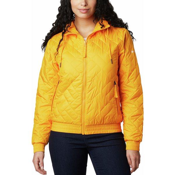 レディースファッション, コート・ジャケット  Columbia Womens Sweet View Insulated Bomber Jacket Bright Marigold
