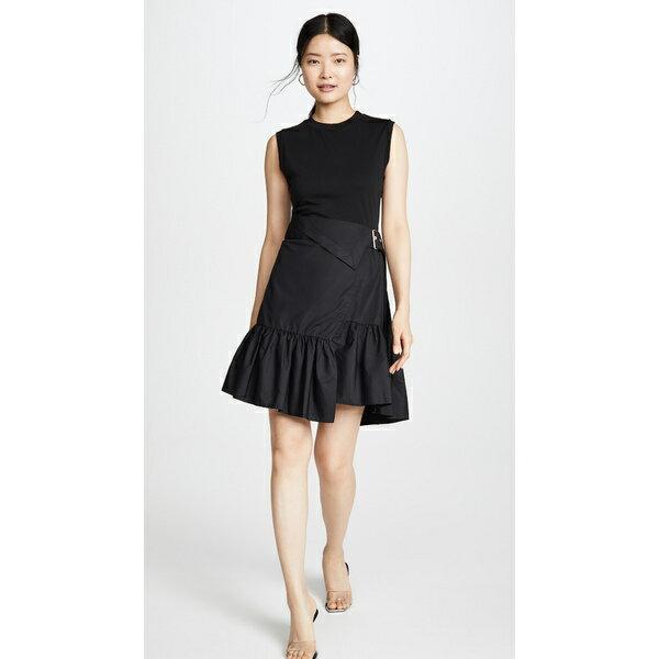 スーツ・セットアップ, ワンピーススーツ  Belted T-Shirt Dress Black