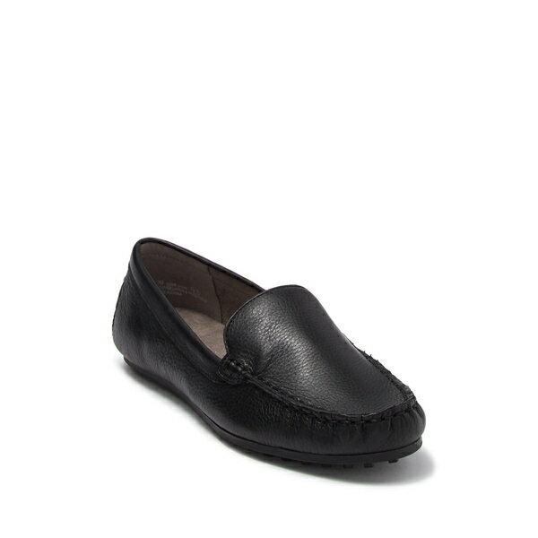 エアロソールズ レディース サンダル シューズ Over Drive Moc Toe Loafer - Wide Width Available BLACK LEAT画像