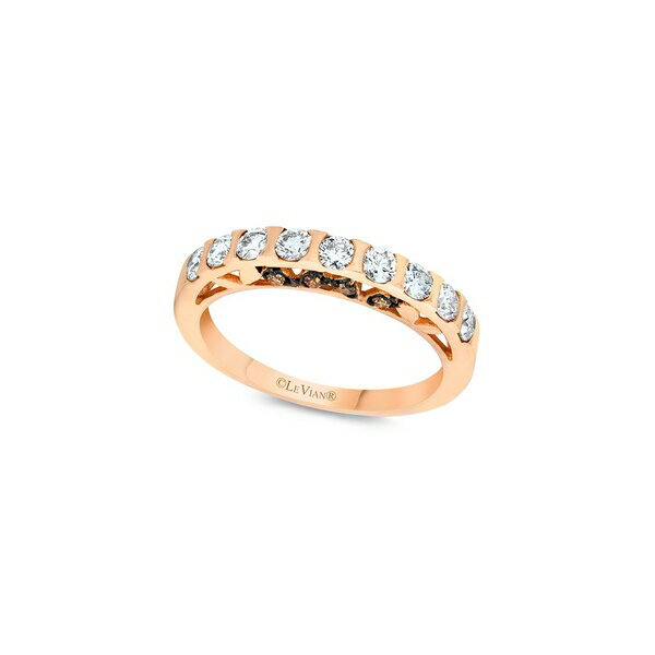 ルヴァン レディース リング アクセサリー Bridal 14K Strawberry Gold, Vanilla Diamond & Chocolate Diamond Band Ring Gold