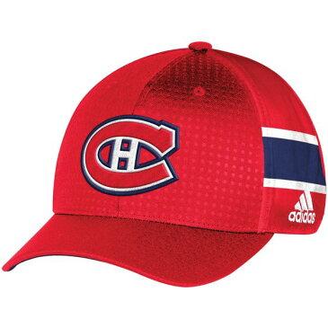 アディダス メンズ 帽子 アクセサリー Montreal Canadiens adidas 2017 Draft Structured Flex Hat Red