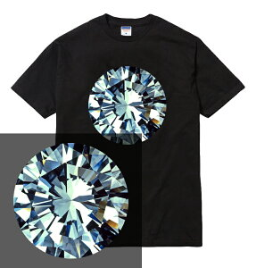 DIAMOND tシャツ 半袖 メンズ レディース ユニセックス 大きいサイズ ダイアモンド ダイヤ ダイヤモンド 宝石 ストリート ブランド ギャング HIPHOP TRAP DRILL プリント tee tシャツ