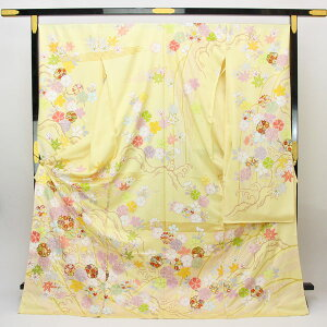 KUBO Kosuke Hand-painted hand-crafted kimono Kyoto Kumi Sugata Tango Chirimen fs447 [smtb-k] [w1] [postpayment not accepted]