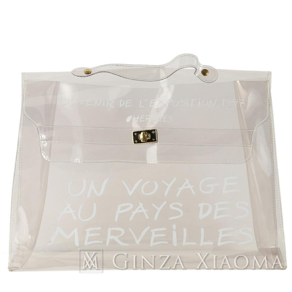 レディースバッグ, ハンドバッグ HERMES PVC Hermes Limited Edition Vinyl Kelly 40 handbag Transparent PVC Gold hardware