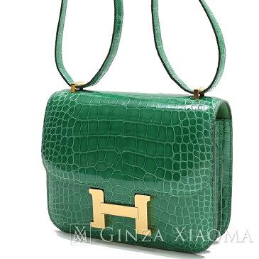 【新品】 HERMES エルメス コンスタンス19 アリゲーター カクタス ゴールド金具 A刻印 ショルダーバッグ