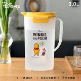 【 アウトレット 】 冷水筒 耐熱 ピッチャー 水差し プラスチック 2リットル 2L 洗いやすい 麦茶ポット 【 ディズニー Disney プー アスベル ドリンク ビオ ASVEL VIO D202 PO19 】