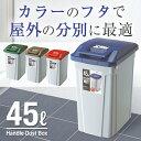 ゴミ箱 ごみ箱 ダストボックス分別 ダストボックスハンドルペール 45L