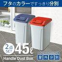 ゴミ箱 ごみ箱 ダストボックス分別 ダストボックスハンドルペール 45L【2個セット】