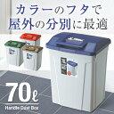 ゴミ箱 ごみ箱 ダストボックス【あす楽】分別 ダストボックスハンドルペール 70L