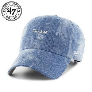47 Brand フォーティーセブンブランド ハードウォッシュデニム ヤンキースローキャップ Yankees Beltone '47 CLEAN UP BLLTN17NDS メンズ レディース 春夏秋冬 アジャスターキャップ 野球帽 帽子 デニム FREE