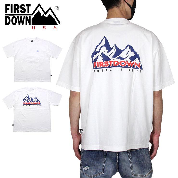 トップス, Tシャツ・カットソー  T FIRST DOWN T 100 MOUNTAIN SS T M L XL