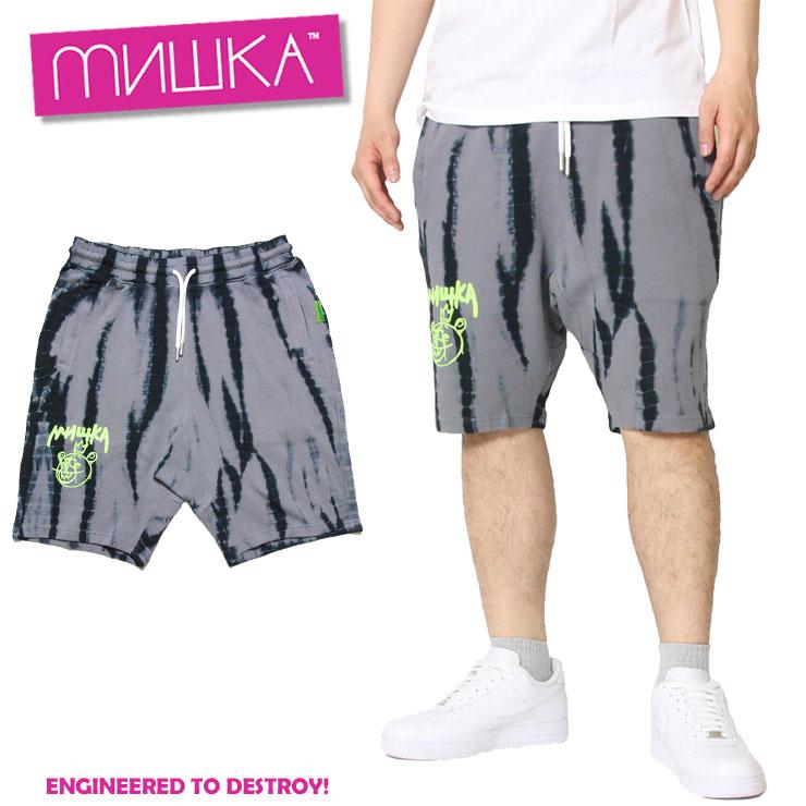 ミシカ MISHKA スウェットショーツ BEAR MOP TIE DYE SHORTS MSS190852 メンズ レディース ストリート系ファッション お洒落 かっこいい 春夏 タイダイ柄 M L XL