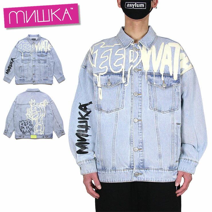メンズファッション, コート・ジャケット  MISHKA G PRINTED JACKET M L XL