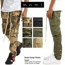 【お得クーポン大量配布中】mnml ミニマル SNAP CARGO PANTS メンズ レディース 春夏秋冬 カーゴパンツ カモ ブラック オリーブ XS S M L XL