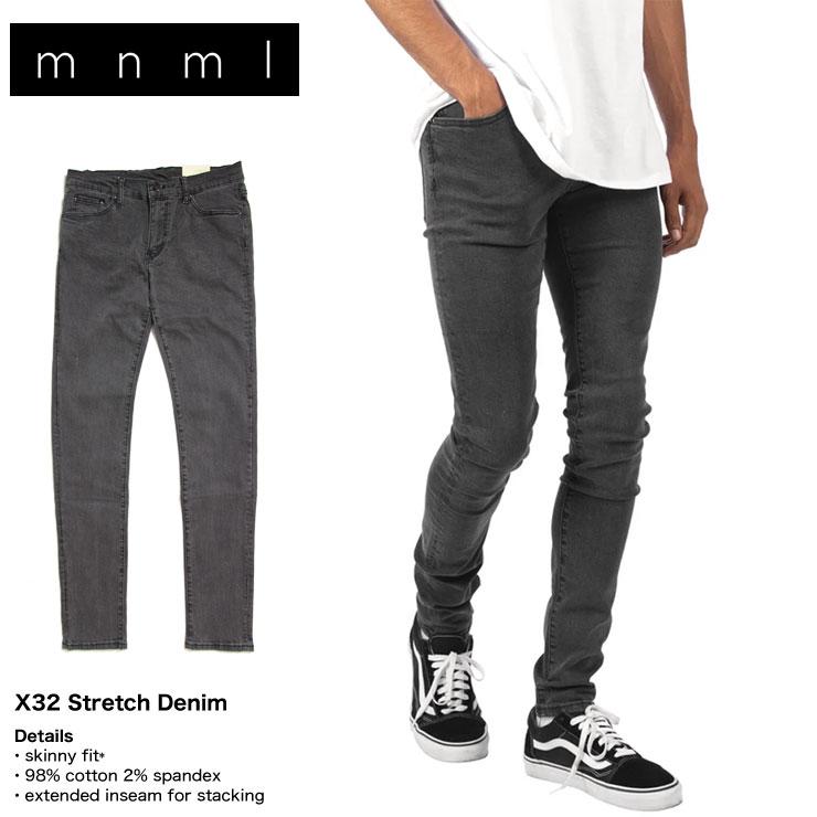 メンズファッション, ズボン・パンツ 20OFFSALE mnml X32 STRECH DENIM 28 29 30 32 34 36 38
