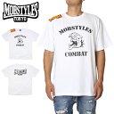 【衝撃の20%OFFクーポン配布中】MOBSTYLES モブスタイルス Tシャツ MOB COMBAT TEE WHITE スポーツ 格闘技 トレーニング ホワイト S M L XL