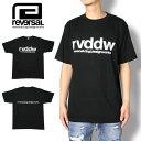 REVERSAL リバーサル Tシャツ rvddw COTTON TEE BLACK rvbs002 メンズ レディース ストリート系 格闘技 ファッション ブラック S M L XL