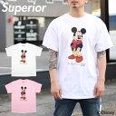 【SUMMER SALE 40%OFF】スペリオール Tシャツ Superior IVY M TEE 17SP-M-009/メンズ/レディース/Disney/ディズニー/ミッキーマウス/半袖/白/プリント/TEE/B系/ストリート系メンズファッション