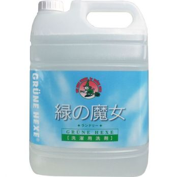 【業務用5Lサイズ】緑の魔女 ランドリー 業務用 5L 洗濯洗剤 ( 液体 ) 弱アルカリ性 ( 4902875171013 )