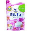 【送料込・まとめ買い×4点セット】牛乳石鹸 ミルキィボディソープリラックスフローラルの香り 詰替用 400ML ( 4901525006323 )