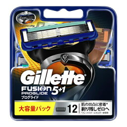 【送料込・まとめ買い×10点セット】P&G ジレット プログライド FUSION5+1 替刃 大容量 12個入×1パック