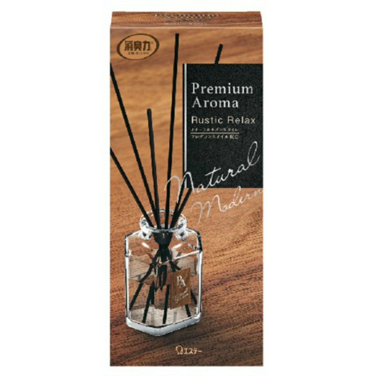 【令和・早い者勝ちセール】エステー お部屋の消臭力 Premium Aroma Stick プレミアムアロマ スティック ラスティックリラックス 本体 50ml