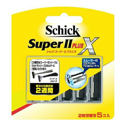 【送料込・まとめ買い×288】シック スーパー2 プラス 替刃 5コ入 ×288点セット(4891228303891)