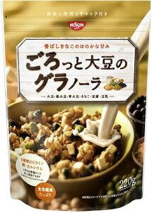 たっぷりの大豆と、ザクザクした歯ごたえのシリアルをブレンド。素朴な甘みでしっかりした食べ...