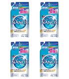 【送料込・まとめ買い×4】ライオン トップ スーパー ナノックス NANOX 詰替 350g×4点セット ( 衣類用液体洗剤 つめかえ ) ( 4903301306474) ※パッケージ変更の場合あり