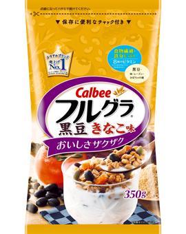 【10袋セットで送料無料】カルビー フルグラ 黒豆きなこ味 350g×10個セット ( 朝食 シリアル グラノーラ ) ( 4901330741433 )