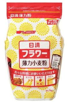 日清麵粉銑削加工麵粉花薄電源麵粉查克與 1 × 15 件 (4902110320664) (食品和麵粉和小麥粉)