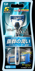 貝印 カイレザー KAIRAZOR axia アクシア ホルダー 替刃1ヶ付 5枚刃( 4901331000607 )