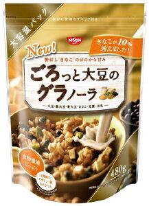 お得サイズのたっぷりの大豆、香ばしいきな粉風味のグラノーラ 4901620178529【送料無料】日清...
